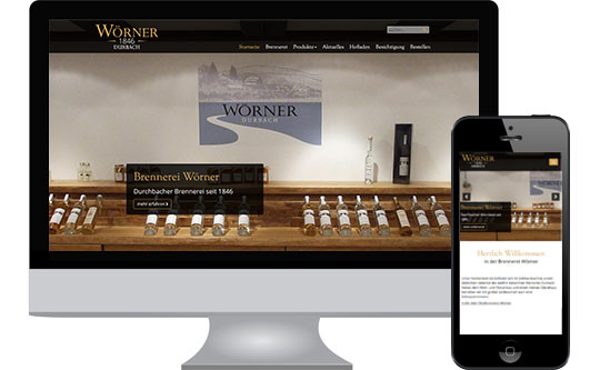 Website Brennerei Wörner